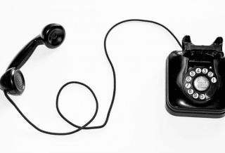 Un ancien téléphone